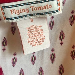 Flying Tomato Tops - Flying Tomato embroidered tunic top Boho